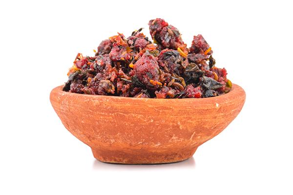 Calcutti Or Banarasi Paan, indian traditional digestive food goo